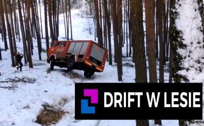 Drift w lesie