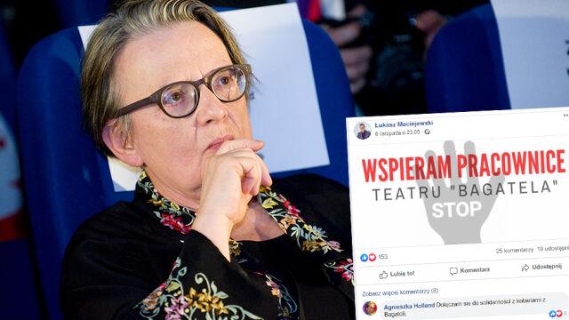 """Agnieszka Holland """"dołącza się do solidarności z kobietami z Bagateli"""""""