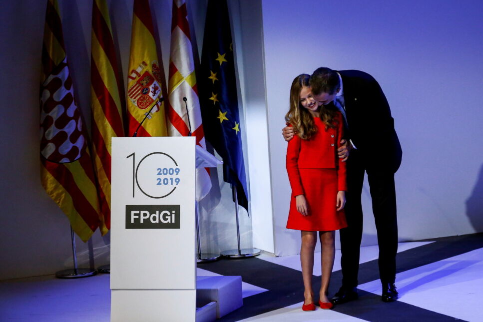 14-letnia następczyni tronu po raz pierwszy w Katalonii