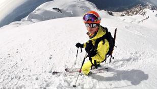 Wszedł na Mont Blanc i zjechał na nartach. Łatwizna