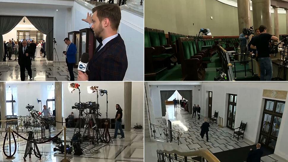 Korytarze i galeria nie dla dziennikarzy.  Sejm w uroczystym dniu ograniczy pracę mediom