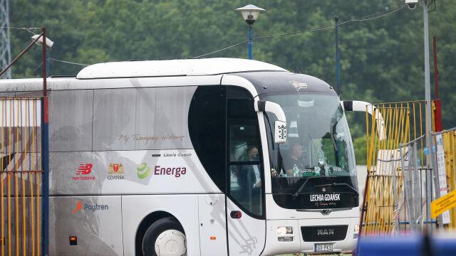 """Podejrzenie zakażenia, Lechia zawróciła autokar. """"Dla bezpieczeństwa zawodników i kibiców"""""""