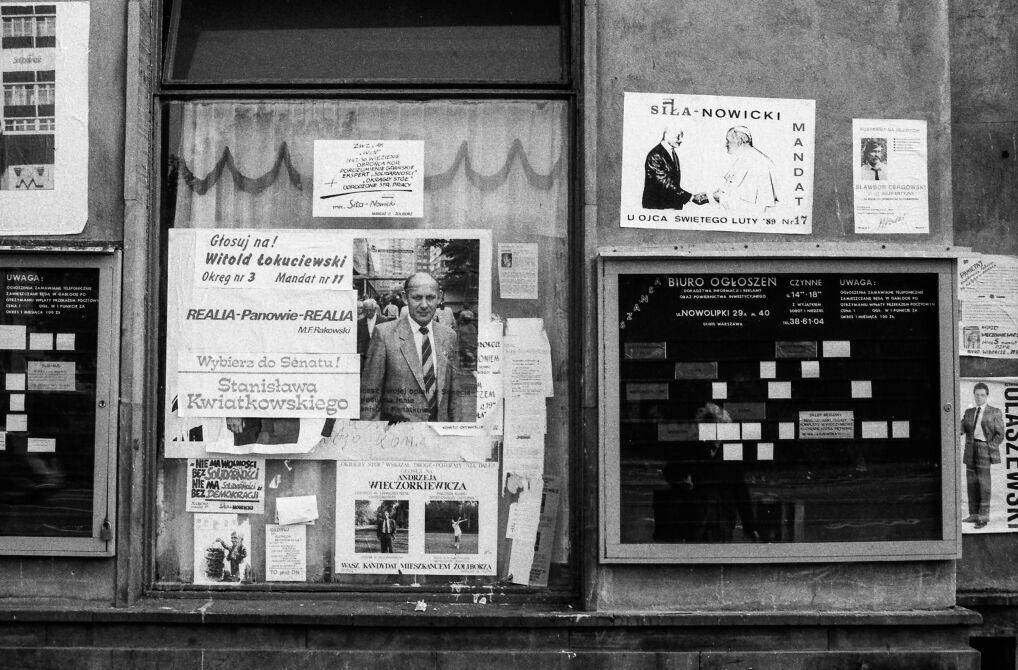 Plakaty na Żoliborzu