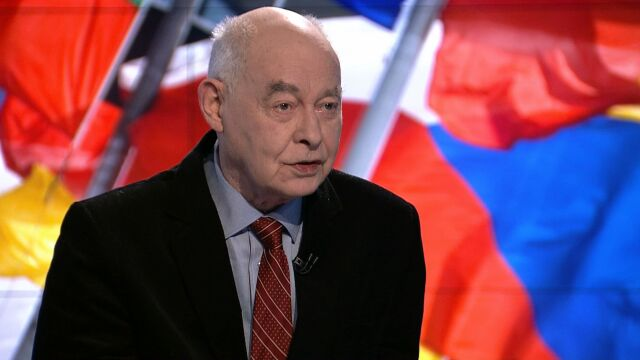 """Profesor Marcin Król był gościem w """"Faktach po Faktach"""" w TVN24"""