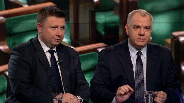 """Marcin Kierwiński i Jacek Sasin w """"Faktach po Faktach"""""""