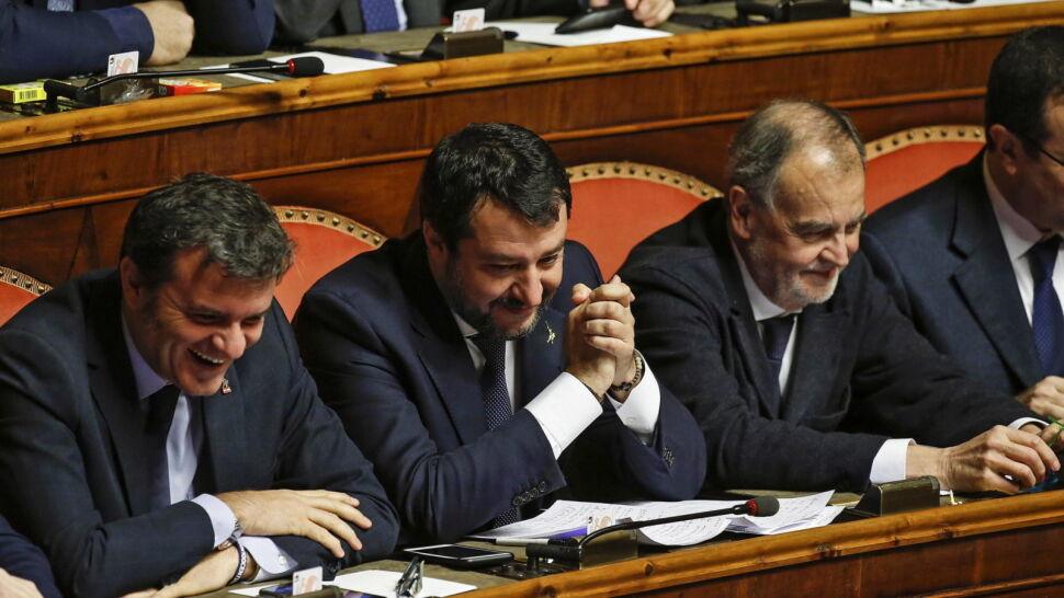 Salvini na zjeździe belgijskich nacjonalistów:  liczę na pomoc węgierskich i polskich przyjaciół