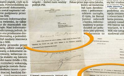 Marszałek Sejmu zaprzecza, że otrzymała pismo z dymisją Mariana Banasia