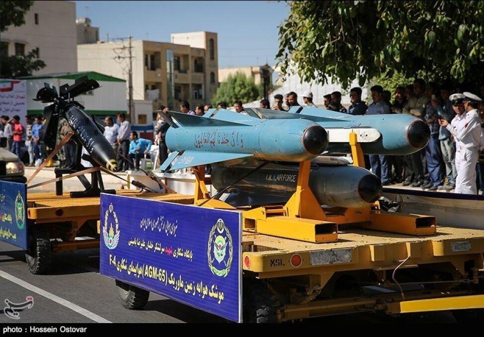 """Irańskie lotnictwo składa się w znacznej części z maszyn amerykańskich. Ich uzbrojenie też pochodzi z USA, choć Irańczycy częściowo je zmodyfikowali i nazywają """"irańskim"""", jak na przykład te rakiety Bina, do złudzenia przypominające amerykańskie Maverick"""