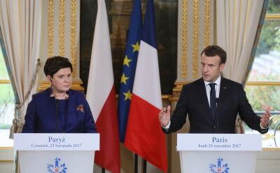 Punkty zbieżne i rozbieżne w rozmowie Macrona z Szydło