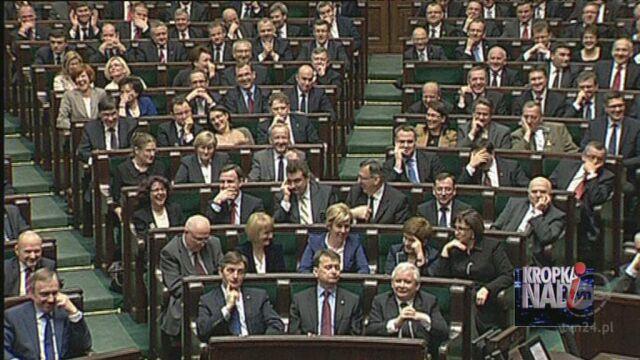 Posłowie zareagowali śmiechem (TVN24)