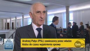 Szef klubu PSL: poseł został zawieszony