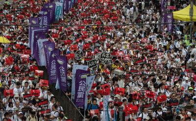 Masowe protesty w Hongkongu