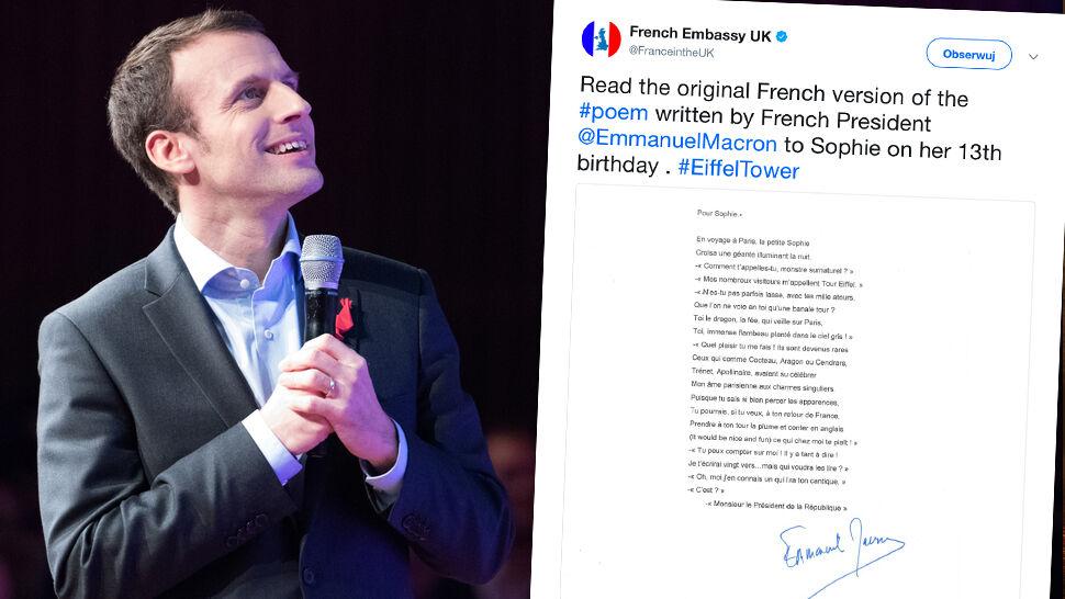 Emanuel Macron Napisał Wiersz Dla 13 Letniej Brytyjki