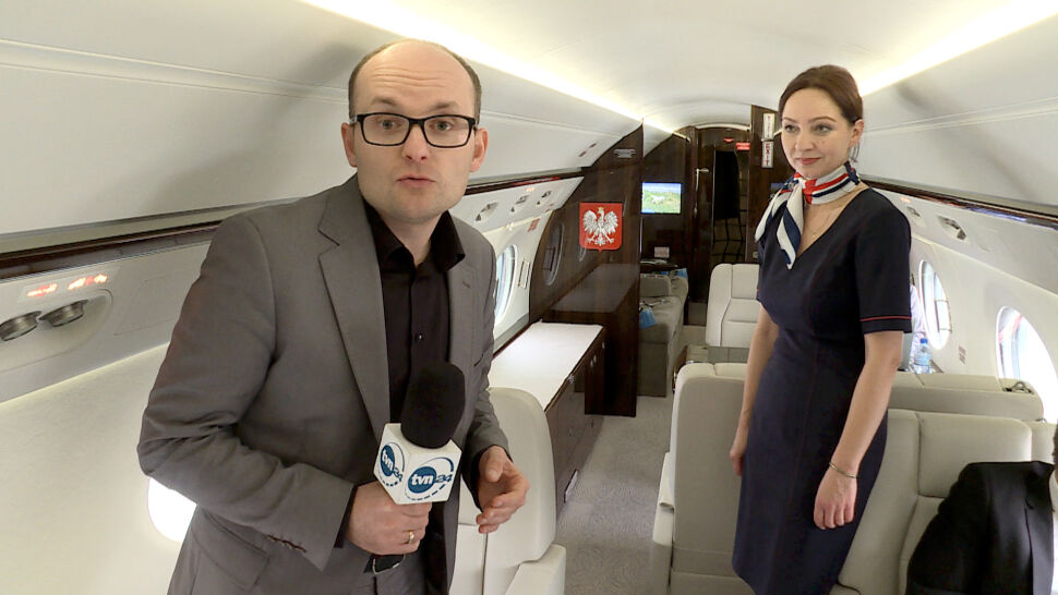 Samolot dla VIP-ów w pierwszej misji. Na pokładzie reporter TVN24
