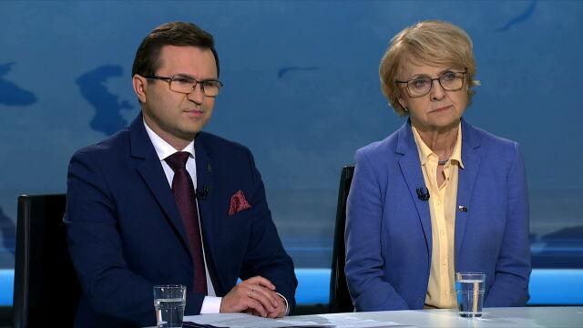 Gośćmi TVN24 byli Zbigniew Girzyński i Danuta Huebner