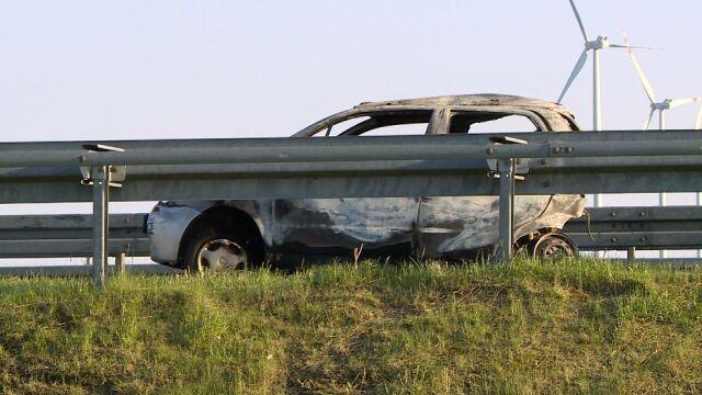 Śmiertelny wypadek na S3. Samochód stanął w płomieniach