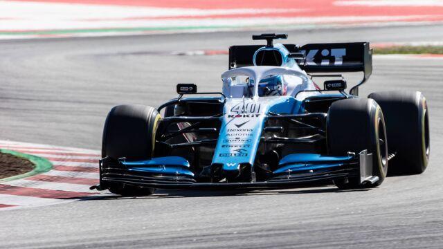 Williams testował. Rezerwowy szybszy od Russella i Kubicy