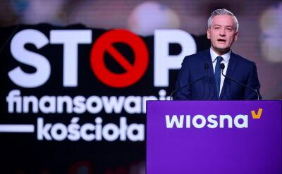 Biedroń: żądamy powołania komisji do spraw zadośćuczynienia ofiarom Kościoła
