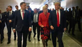 Krótkie spotkanie Andrzeja Dudy i Donalda Trumpa