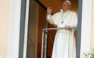 Papież Franciszek przemówił w oknie papieskim