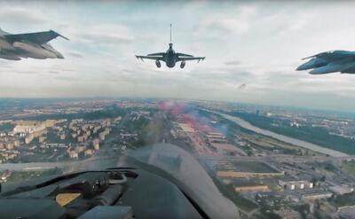 """""""Poczuj się jak pilot F-16"""". Wideo 360 stopni z okazji Szczytu NATO"""