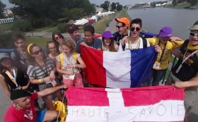 Pielgrzymi z Francji dają popis swoich możliwości wokalnych