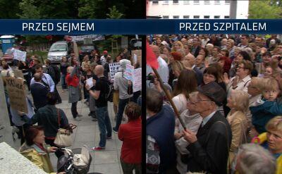 Dwa protesty ws. prof. Chazana