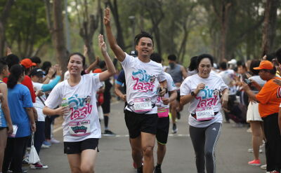 W ramach manifestacji tysiące Tajlandczyków wzięło udział w biegu