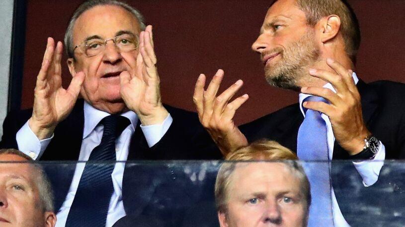 """Szef UEFA nie przebiera w słowach. """"Perez? Prezydent niczego"""""""