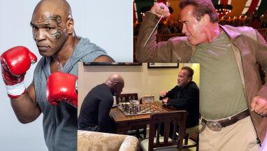 Tyson i Schwarzenegger zadumani nad szachownicą