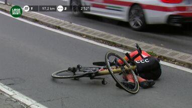 Mistrz olimpijski w szpitalu. Poważnie ucierpiał na trasie Liege-Bastogne-Liege