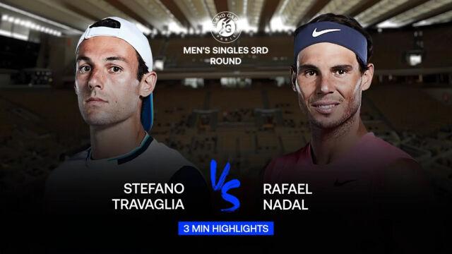 Skrót meczu Travaglia - Nadal w 3. rundzie Roland Garros