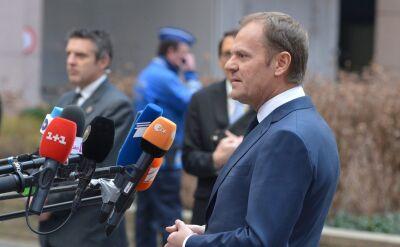 Donald Tusk rozmawiał z dziennikarzami przed rozpoczęciem szczytu
