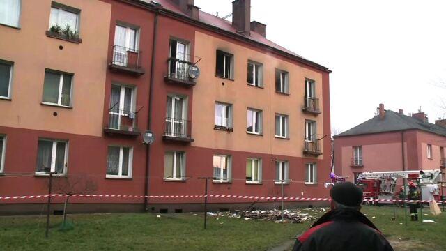 Wybuch gazu w Blachowni. Dwie osoby trafiły do szpitala