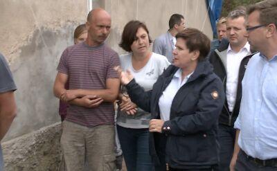 Beata Szydło odwiedziła rodzinę poszkodowaną przez nawałnice