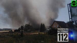Duży pożar przy zakładzie mięsnym. Spłonęło kilkanaście samochodów