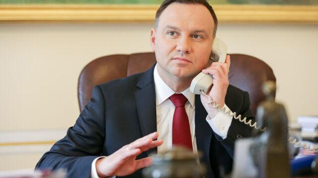 """Prezydent Duda rozmawiał z prezydent Gruzji. """"Nie obawia się ona zewnętrznej interwencji"""""""