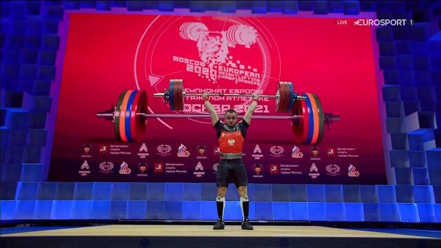 Kudłaszyk 10. w kategorii do 73 kg w ME w podnoszeniu ciężarów