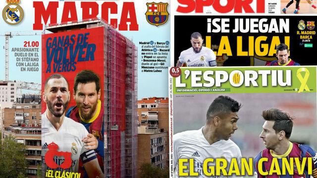 """""""Decydujące El Clasico"""", """"Mistrzostwo w grze"""". Hiszpanie nie mogą doczekać się meczu"""