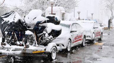Śnieżyca w Turcji. Odwołano etap wyścigu kolarskiego