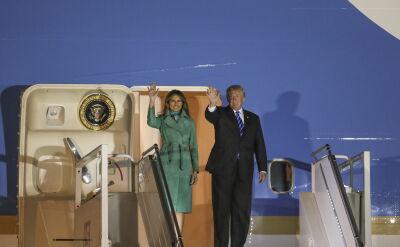 Donald i Melania Trump w Warszawie