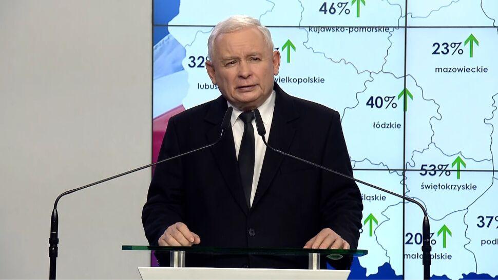 Jarosław Kaczyński skomentował równiż wynik wyborów do Senatu