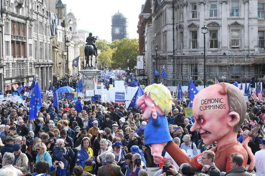 Brytyjczycy protestują na ulicach Londynu