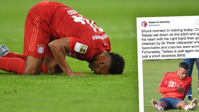 Cały Bayern wstrzymał oddech. Piłkarz upadł na treningu i złapał się za serce