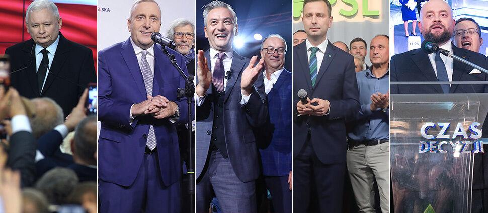 PiS prowadzi, w Sejmie pięć ugrupowań. Sondażowe wyniki wyborów