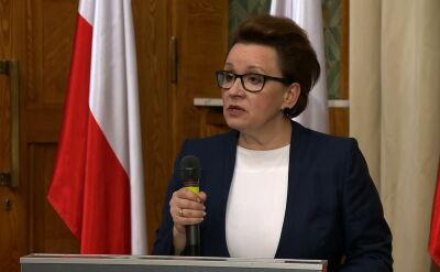 Anna Zalewska o zespołach szkół