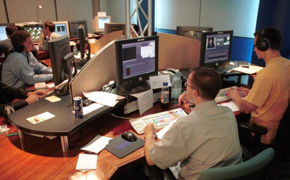 Studio TVN24 w 2001 roku