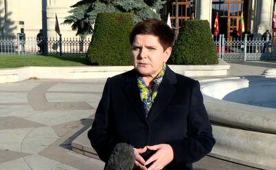 Premier Szydło komentuje zdjęcia europosłów PO na szubienicach