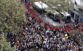 Wysłannik TVN24 obserwuje demonstrację w Barcelonie