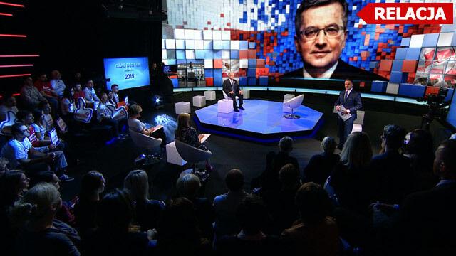 """""""Czas decyzji. Debata"""". Bronisław Komorowski w TVN24"""